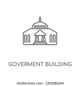 Goverment Building linear icon. Goverment Building concept stroke symbol design. Thin graphic elements vector illustration, outline pattern on a white background, eps 10.
