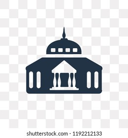 Goverment Building vector icon isolated on transparent background, Goverment Building transparency concept can be used web and mobile