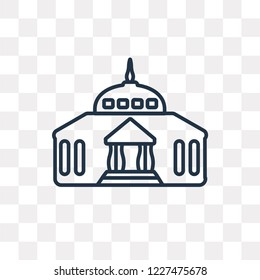 Goverment Building vector outline icon isolated on transparent background, high quality linear Goverment Building transparency concept can be used web and mobile