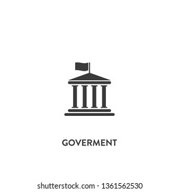 goverment icon vector. goverment sign on white background. goverment icon for web and app