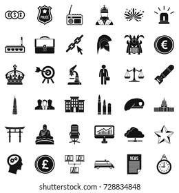 Goverment icons set. Simple style of 36 goverment vector icons for web isolated on white background