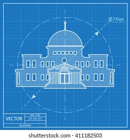 Capitol building vector images stock photos vectors shutterstock government building blueprint style malvernweather Gallery