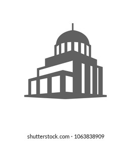 Government building icon in trendy flat style isolated on white background. Symbol for your web site design, logo, app, UI. Vector illustration, EPS