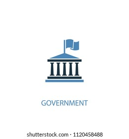 government concept 2 colored icon. Simple blue element illustration. government concept symbol design from elections set. Can be used for web and mobile UI/UX