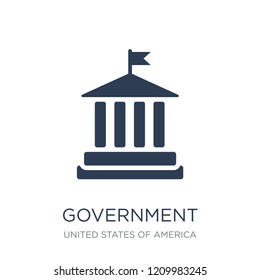 Government icon. Trendy flat vector Government icon on white background from United States of America collection, vector illustration can be use for web and mobile, eps10