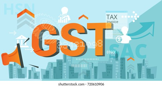 Government Tax - GST Announcement - Illustration