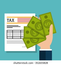 Government taxes payment graphic design, vector illustration eps10