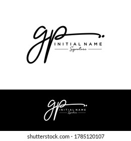 GP  Initial letter handwriting and signature logo.