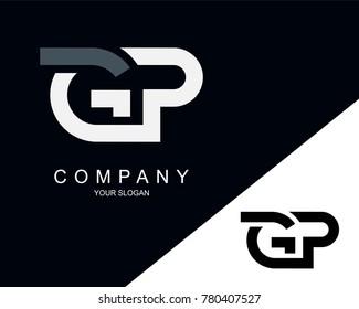 GP Letter Logo Design Template