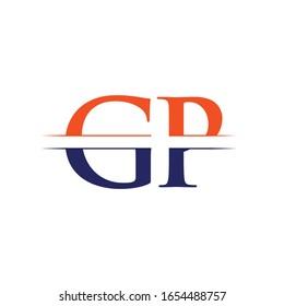 GP letter Type Logo Design vector Template. Abstract Letter GP logo Design