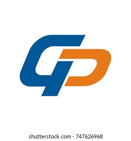 GP logo initial letter design template vector