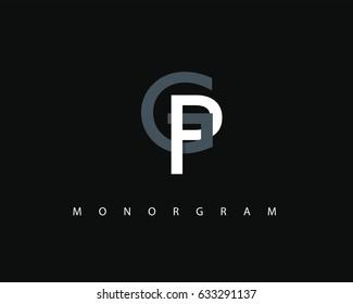 GP Logo. Letter design vector