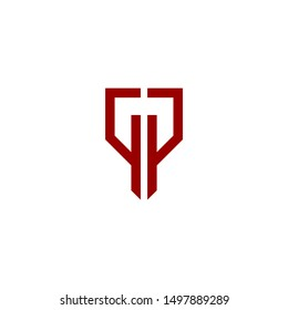 GP or PG Letter Abstract Company Logo Design