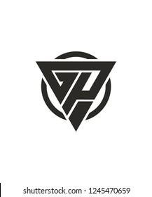 GP PG Triangle Vector Logo Design