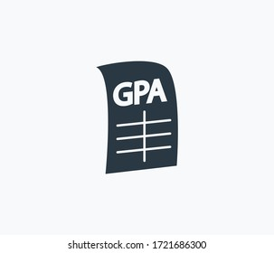 Gpa icon isolated on clean background. Gpa icon concept drawing icon in modern style. Vector illustration for your web mobile logo app UI design.
