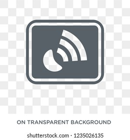 Gps device icon. Trendy flat vector Gps device icon on transparent background from Maps and Locations collection.
