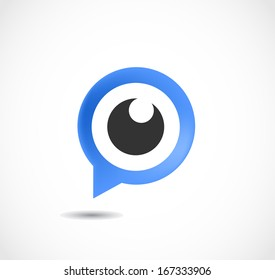 Gps eye vector