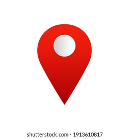 Gps with flat icon vector illustration