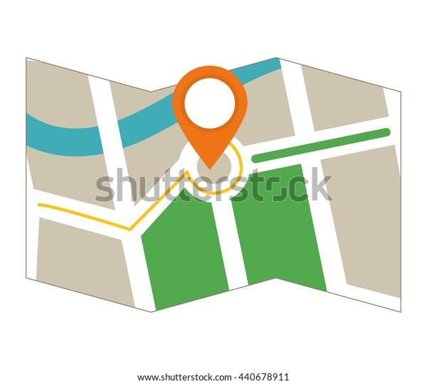 GPS  icon. Map design. vector graphic