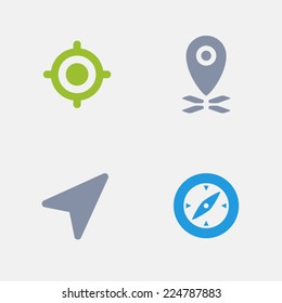 GPS Icons. Granite Series. Simple glyph style icons in 4 versions. The icons are designed at 32x32 pixels.