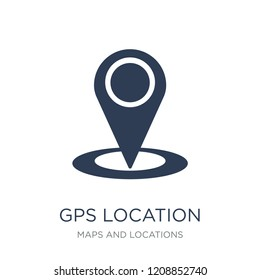 GPS Location icon. Trendy flat vector GPS Location icon on white background from Maps and Locations collection, vector illustration can be use for web and mobile, eps10