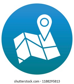 GPS Map Isolated Vector Icon