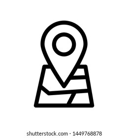 Gps maps best icon , template logo design business , emblem isolated illustration outline solid background white