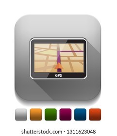 gps navigation With long shadow over app button