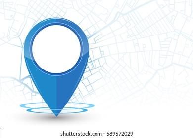 GPS. navigation mockup blue color on street line background.vector illustration