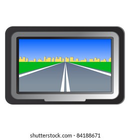GPS navigation - vector illustration. Rasterized version also available in gallery