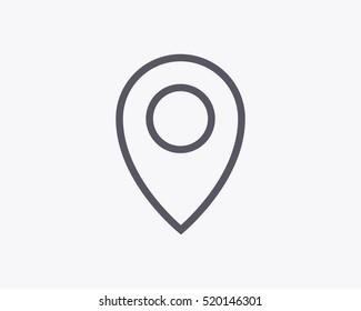 GPS pin vector icon