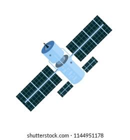 GPS satellite Wireless satellite technology World global net. Vector illustration.