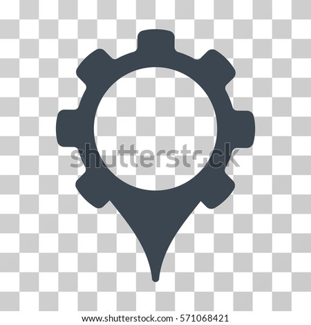 GPS Settings Icon Vector Illustration Style Stock Vector (Royalty