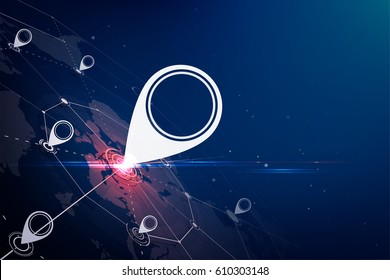 Gps.Gps technology abstract background.vector illustration