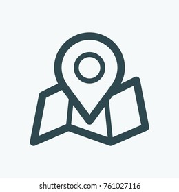 GPS tracking pin, GPS tracking location vector icon