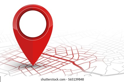 GPS.navigator pin checking red color on white background. vector illustration