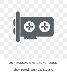 Gpu icon. Trendy flat vector Gpu icon on transparent background from hardware collection.