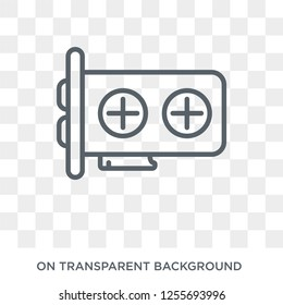 Gpu icon. Trendy flat vector Gpu icon on transparent background from hardware collection. High quality filled Gpu symbol use for web and mobile