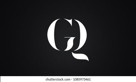 GQ Letter Logo Design Template Vector
