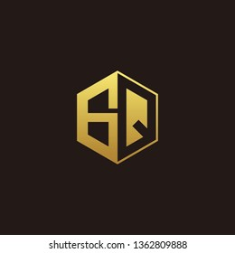 GQ Logo Monogram with Negative space gold colors