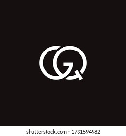 GQ or QG letter logo design template. GQ letter awesome logo concept for your personal or company branding
