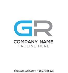 GR Creative Letter Logo Design vector Template. Abstract Letter GR logo Design