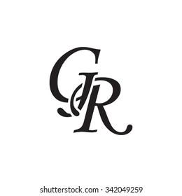 GR initial monogram logo