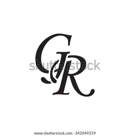 06c60a7443df GR Initial Monogram Logo Stock Vector (Royalty Free) 342049259 ...