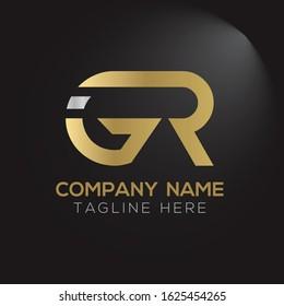 GR letter Type Logo Design vector Template. Abstract Letter GR logo Design