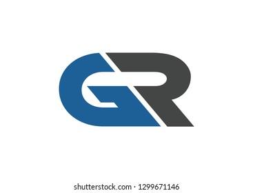 GR logo design branding vector