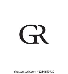 GR logo letter design