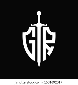 GR logo with shield shape and sword
