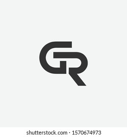 GR or RG letter designs for logo and icons