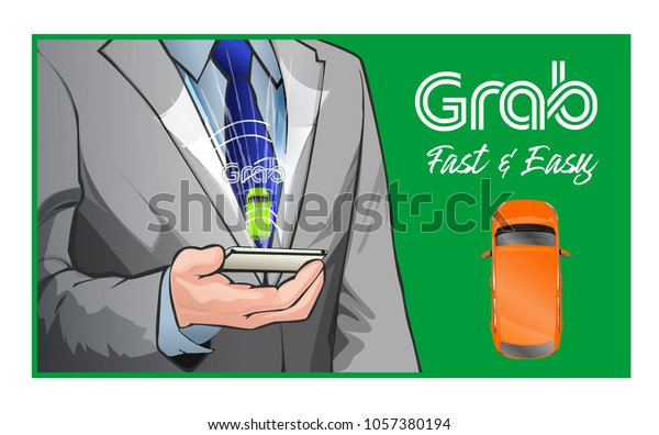 Grab Fast Easy Inexpensive Transportation Every Stock Vector